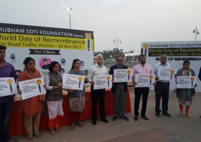 Shubham Soti Foundation organizes World Day of Remembrance for Road Traffic Victims - 19 Nov 2017 (1)