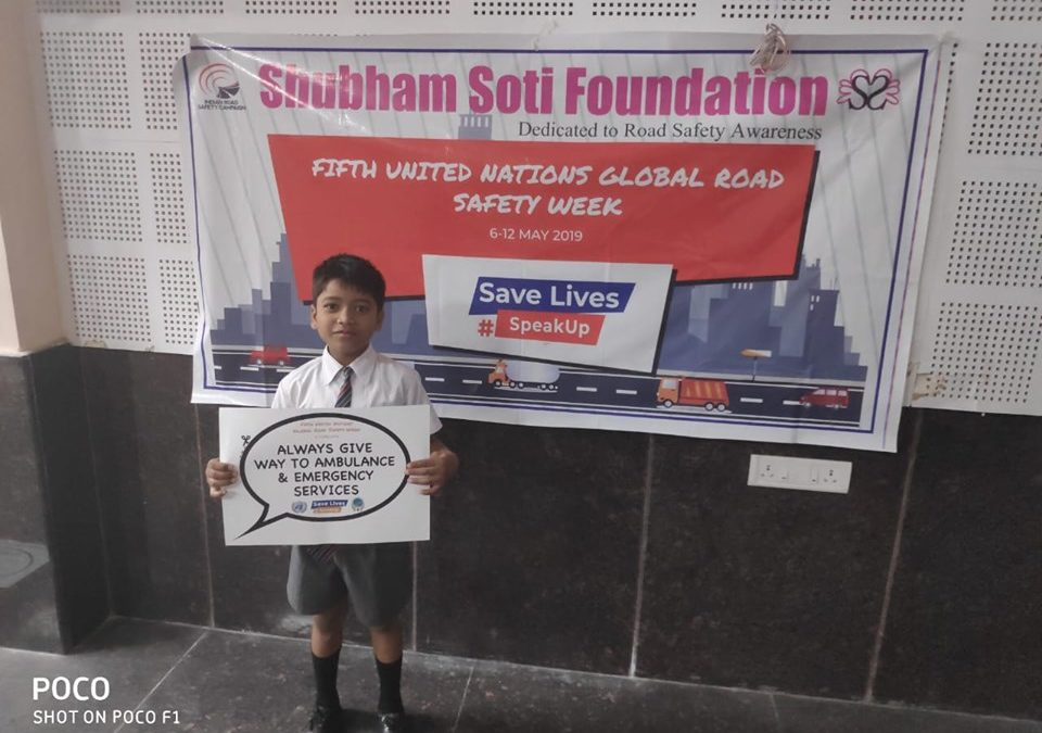 Shubham Soti Foundation and IRSC observed 5th UN Global Road Safety Week