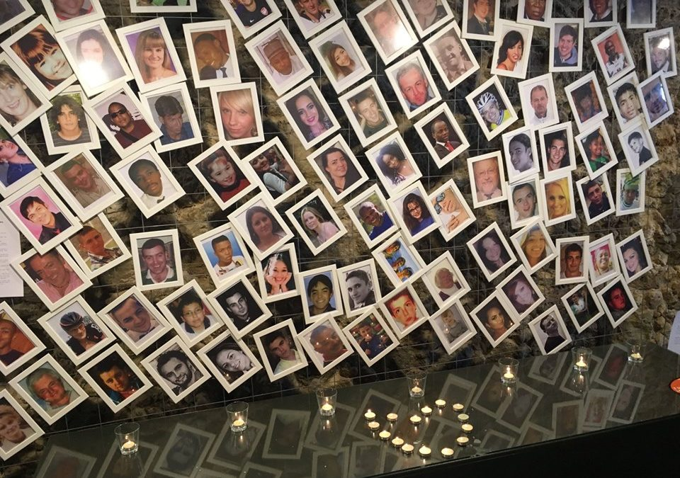 Photo Frames who lost their lives on roads- In the Global Meeting of NGOs in Greece