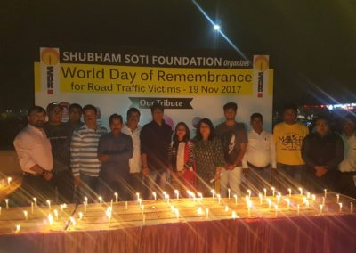 Shubham Soti Foundation organizes World Day of Remembrance for Road Traffic Victims - 19 Nov 2017 (2)