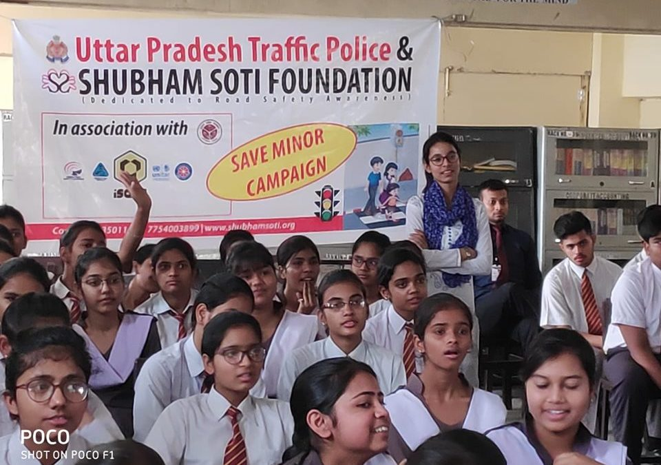 Shubham Soti Foundation and UP Traffic Police organized a Save Minor Campaign